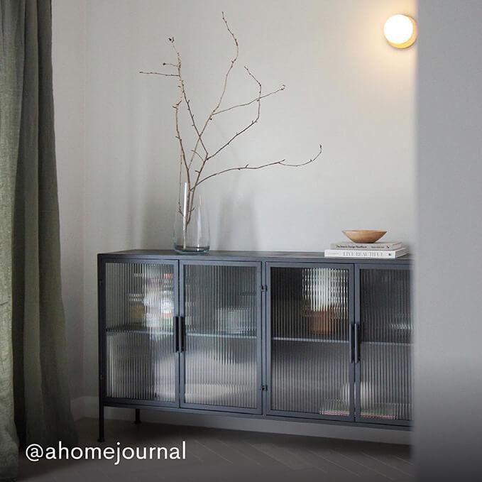 Kyoto Glass & Metal Sideboard