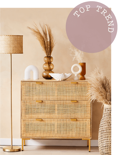Embrace texture with bamboo, rattan and cane