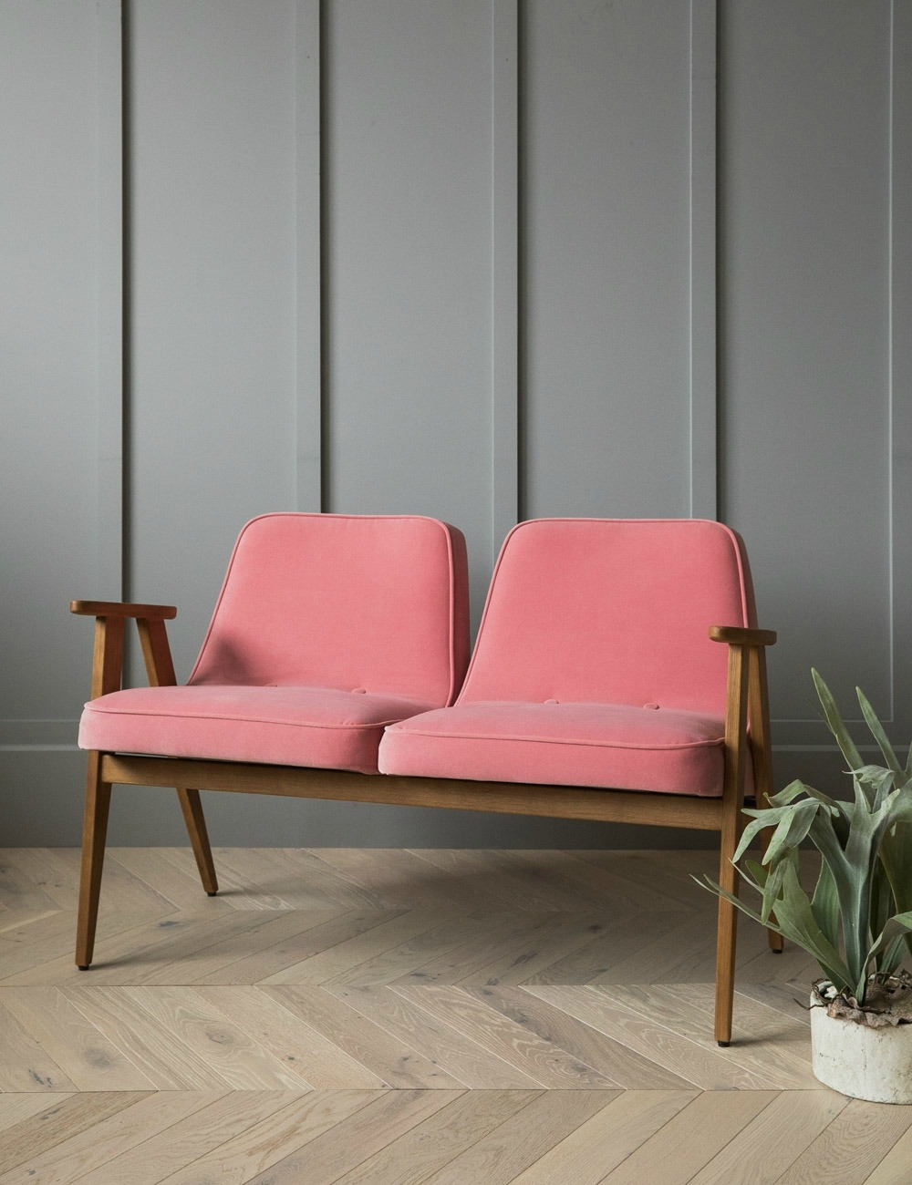 Jozef Chierowski 366 Two Seater Velvet At Rose amp Grey
