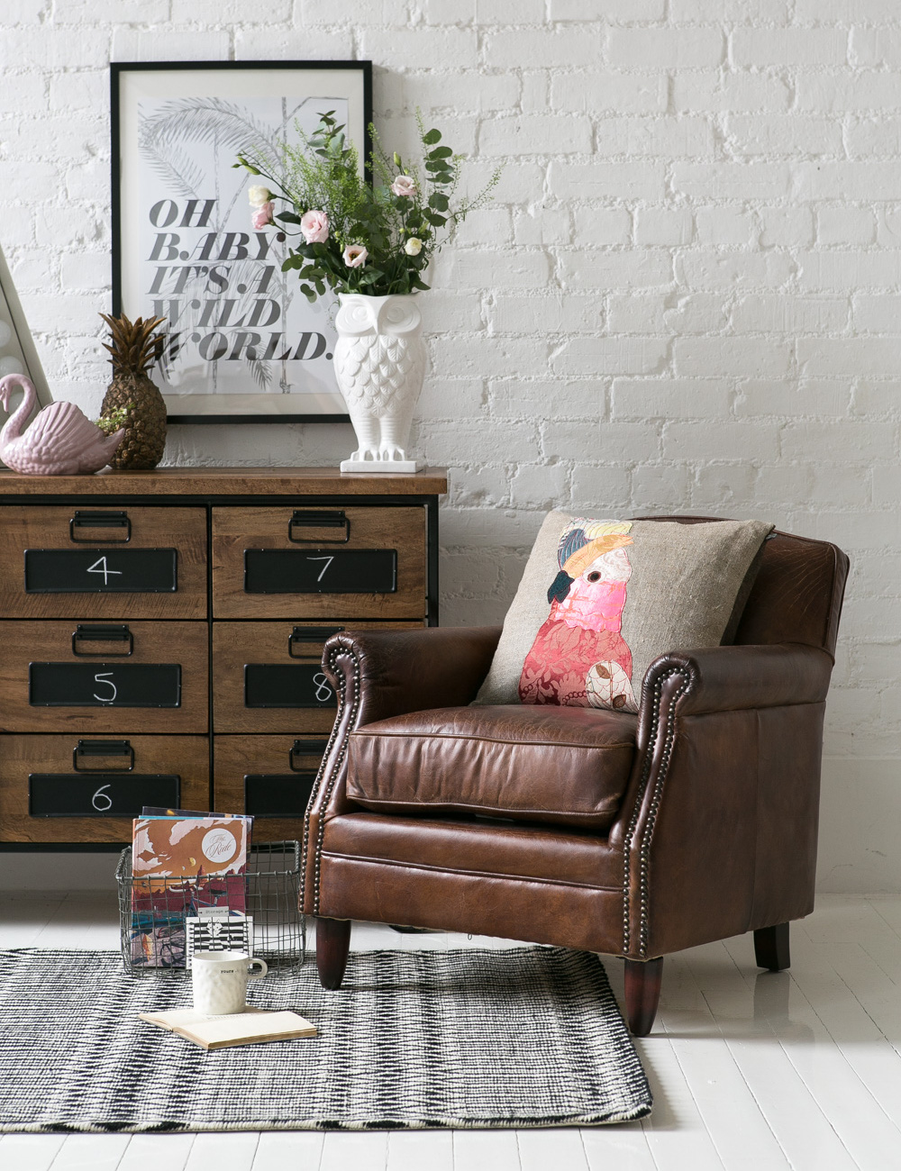 Vintage Leather Brooklyn Armchair by Rose and Grey ...