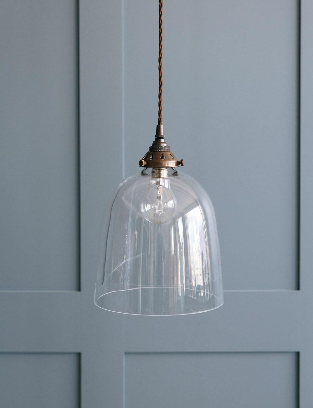 Bell Blown Glass Pendant Light - Various Sizes