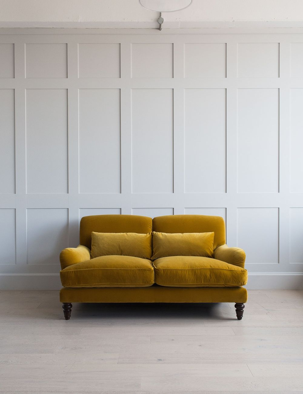 Picture of: Velvet Sofa Mabel Sofa Available In 27 Colours Rose Grey