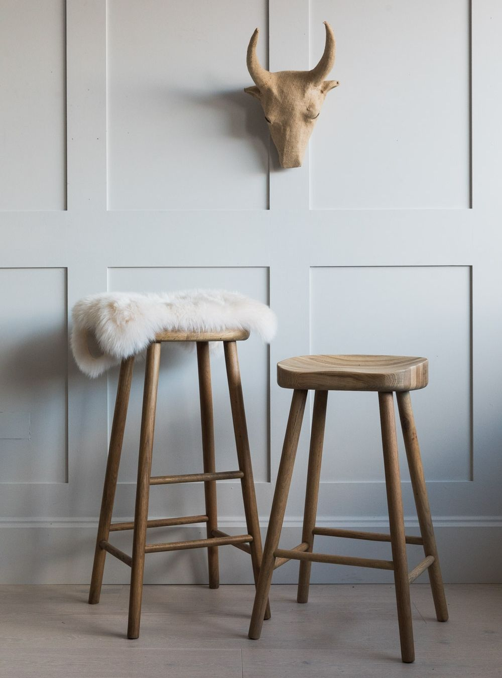 Fabulous Weathered Oak Stool Two Sizes Available Ncnpc Chair Design For Home Ncnpcorg
