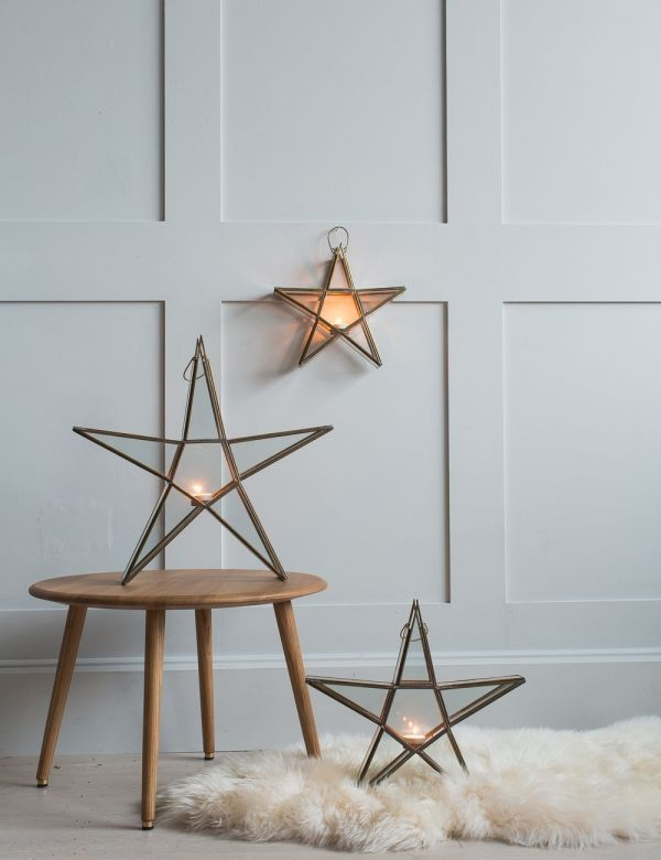 Rustic Standing Star Tealight Holder
