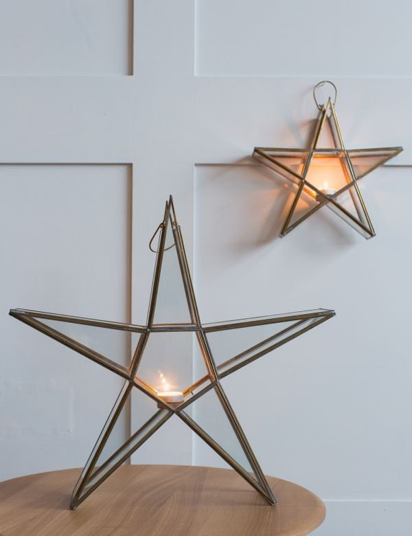Rustic Standing Star Tealight Holder - Small, Medium or Large