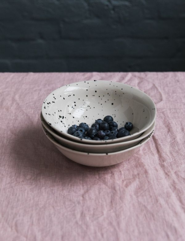 Ama Splatter Print Ceramic Bowl