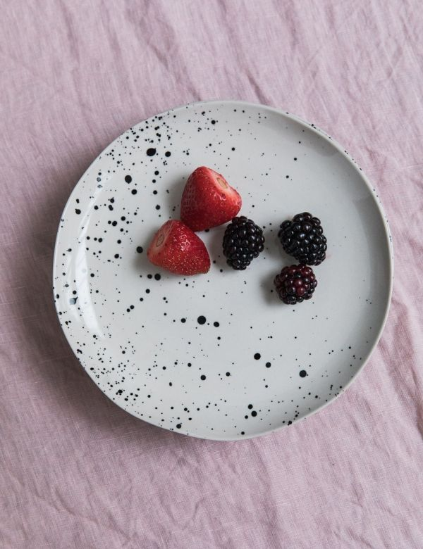 Ama Splatter Print Ceramic Side Plate