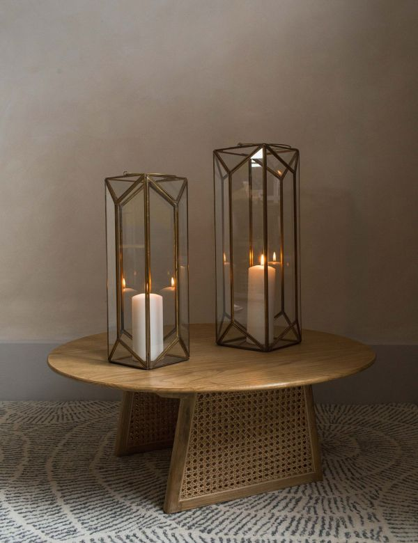 Antique Brass Ndiki Lantern - Two Sizes Available