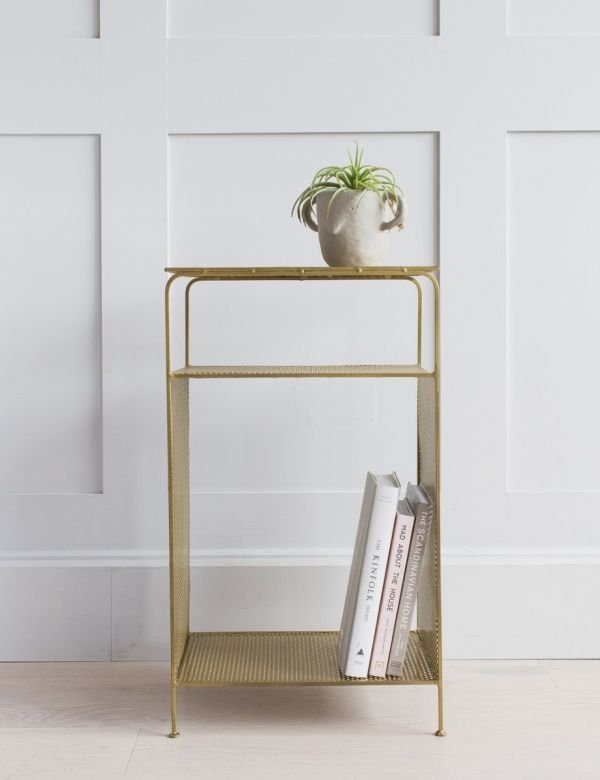 Antique Brass Standing shelf