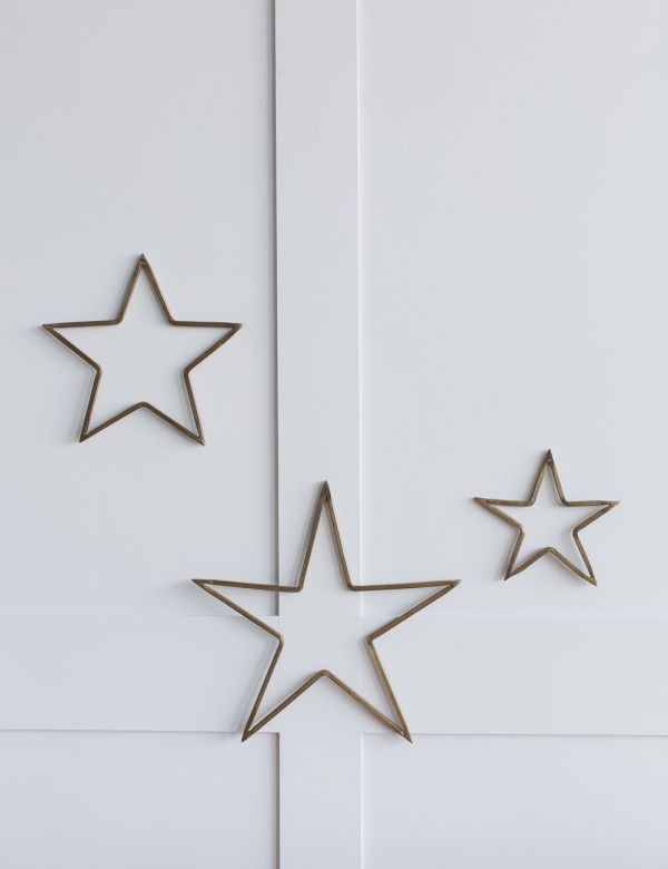 Antique Brass Star - Three Sizes Available