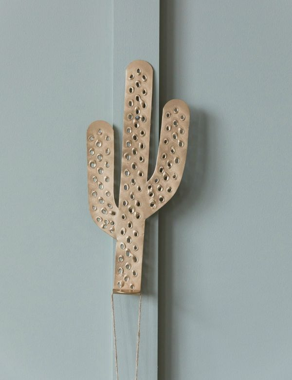 Antique Gold Decorative Cactus Hook