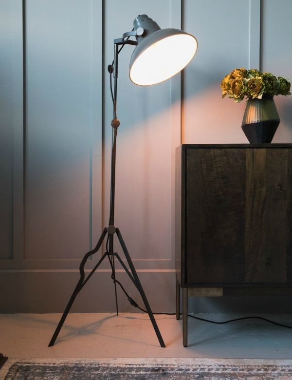 Antique Grey & Black Oboro Film Lamp
