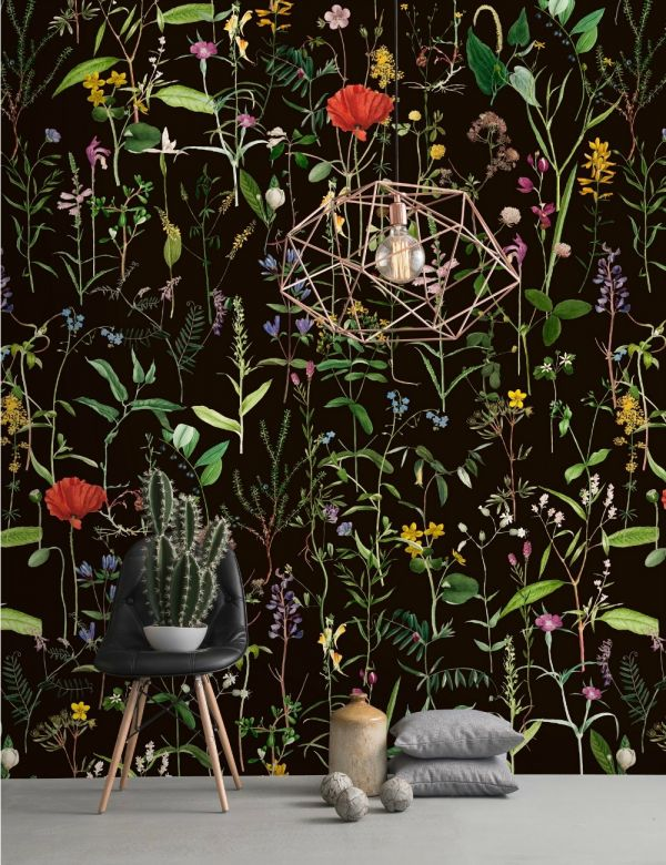 Mind The Gap Wallpaper Collection - Aquafleur Anthracite