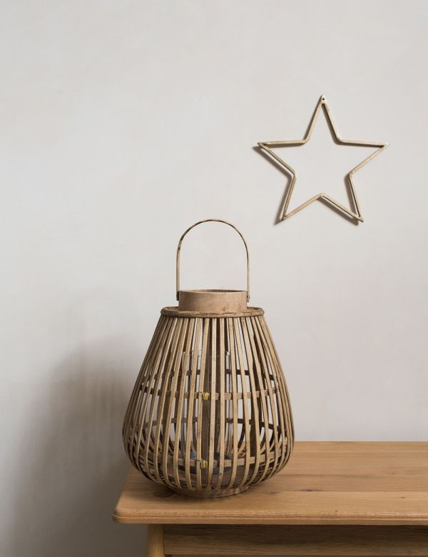Bamboo and Glass Balu Lantern