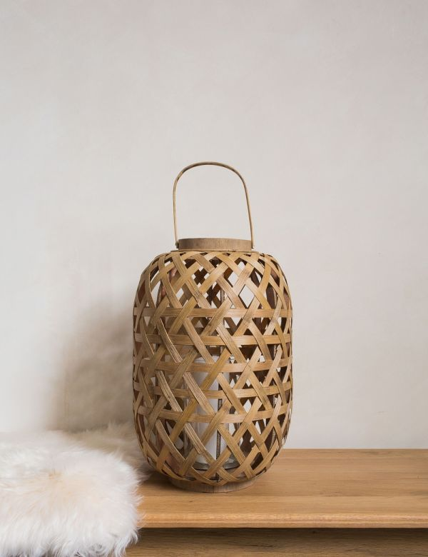 Bamboo and Glass Grome Lantern