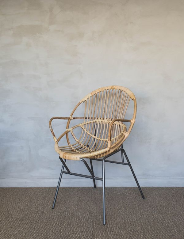 Bamboo & Iron Occasional Chair