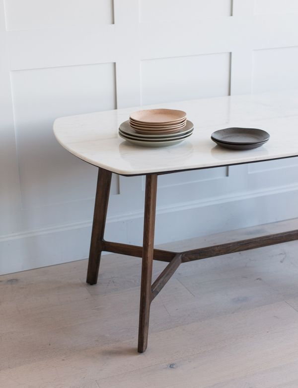 Barcelona Oval Marble Dining Table