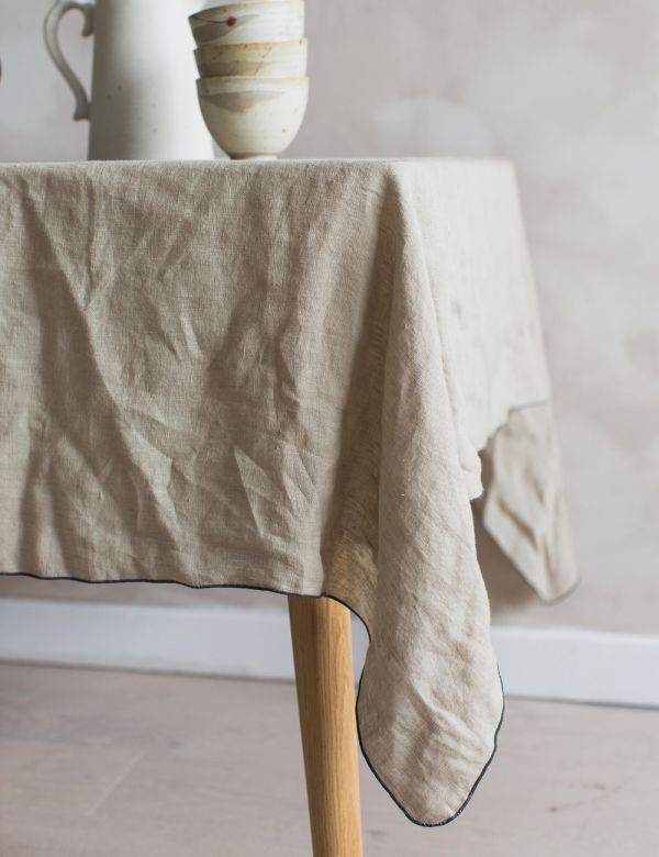 Beige Linen Tablecloth