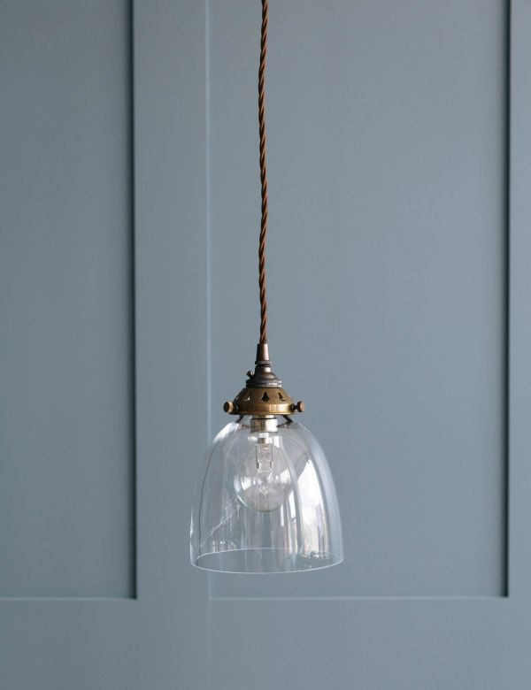 Bell Blown Glass Pendant Light - Small or Large