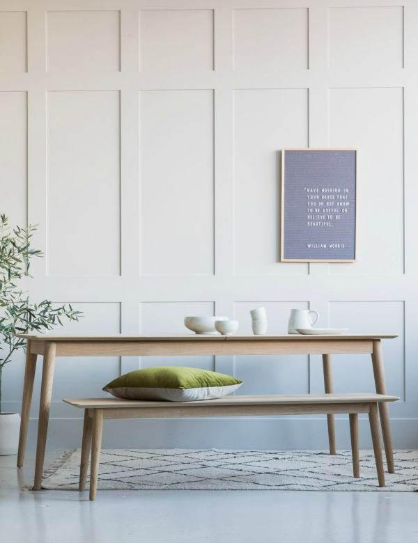 Bergen Solid Oak Dining Bench