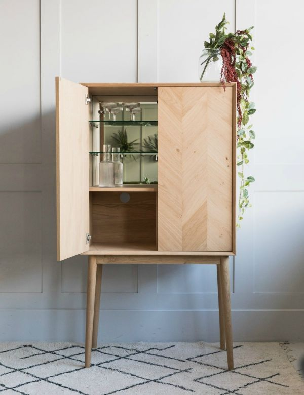 Bergen Solid Oak Drinks Cabinet