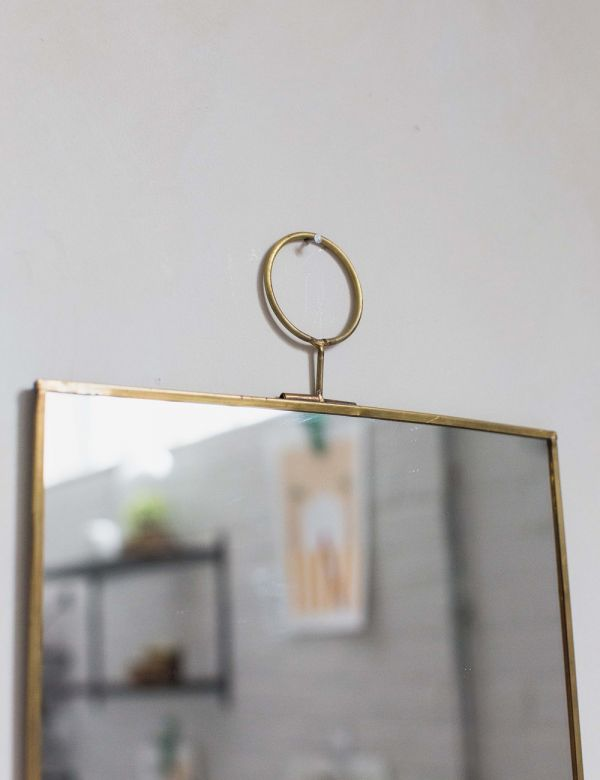 Brass Loop Mirror - Two Sizes Available