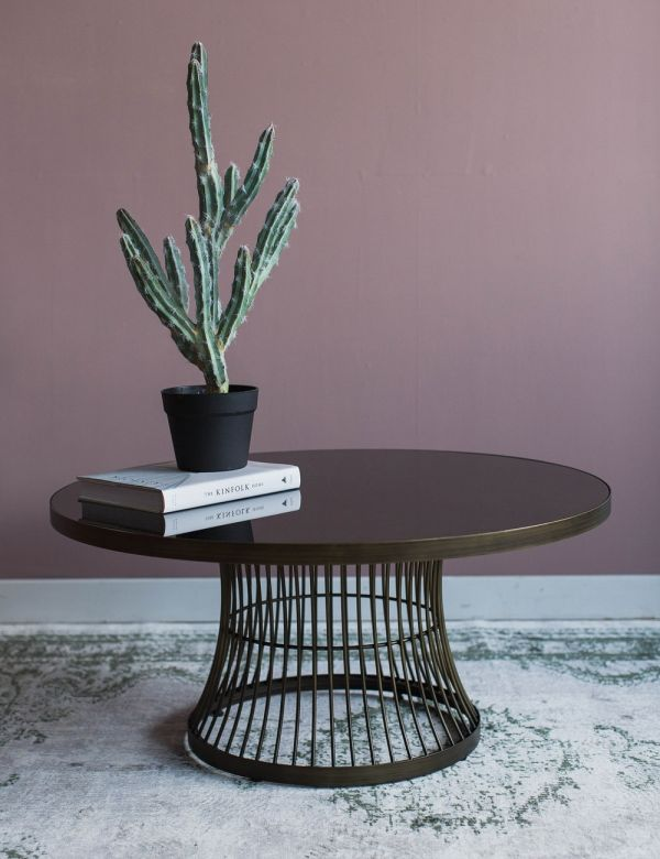 Caitlyn Coffee Table - Glass & Bronze