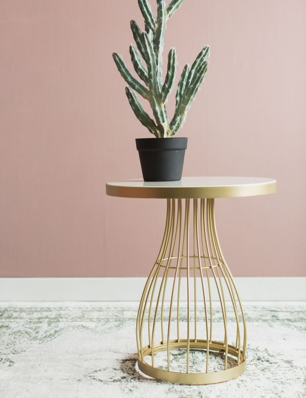 Camilla Side Table - Marble & Gold