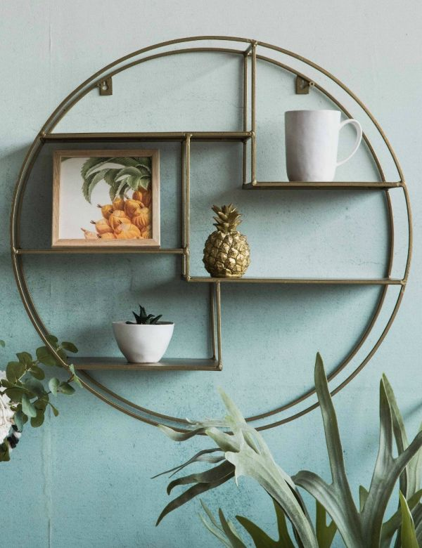 Circular Brass Display Shelf