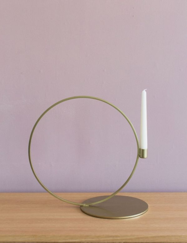 Cirque Large Brass Candle Stand