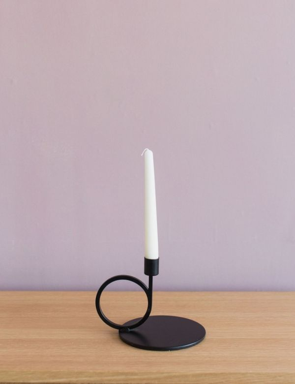 Cirque Small Black Candle Stand