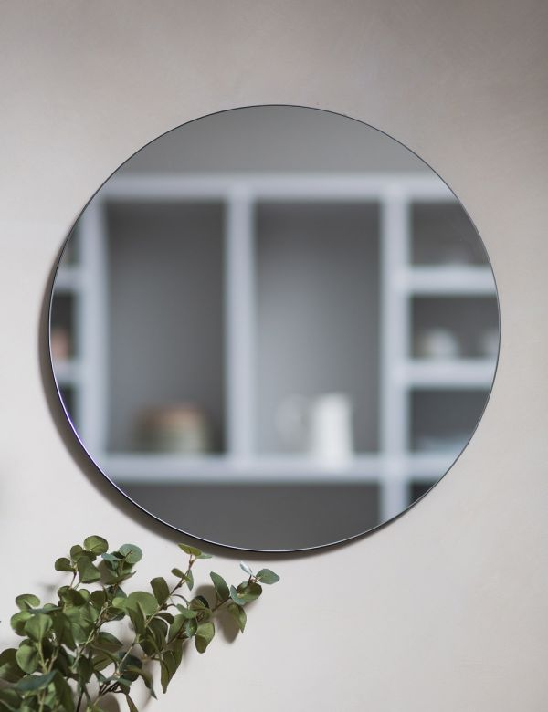 Clear Glass Round Mirror