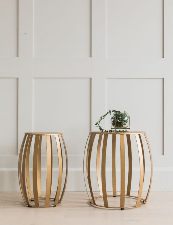 Cordelia Set of Two Brass Side Tables