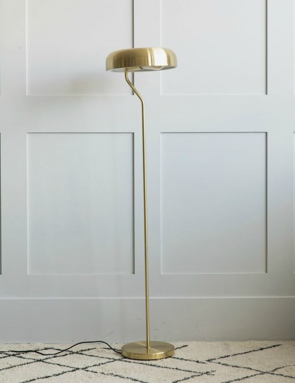 Eclipse Brass Floor Lamp