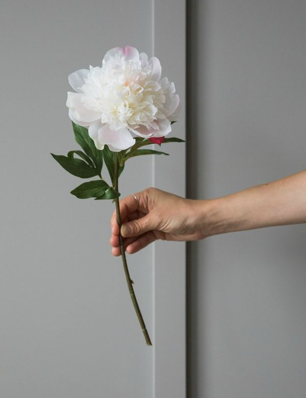 Faux Peony Stem - Two Colours Available