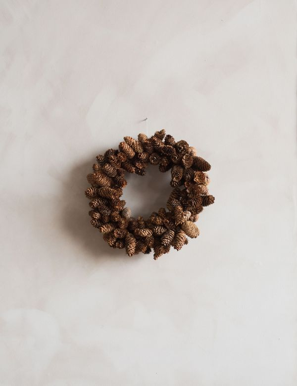 Faux Pine Cone Wreath