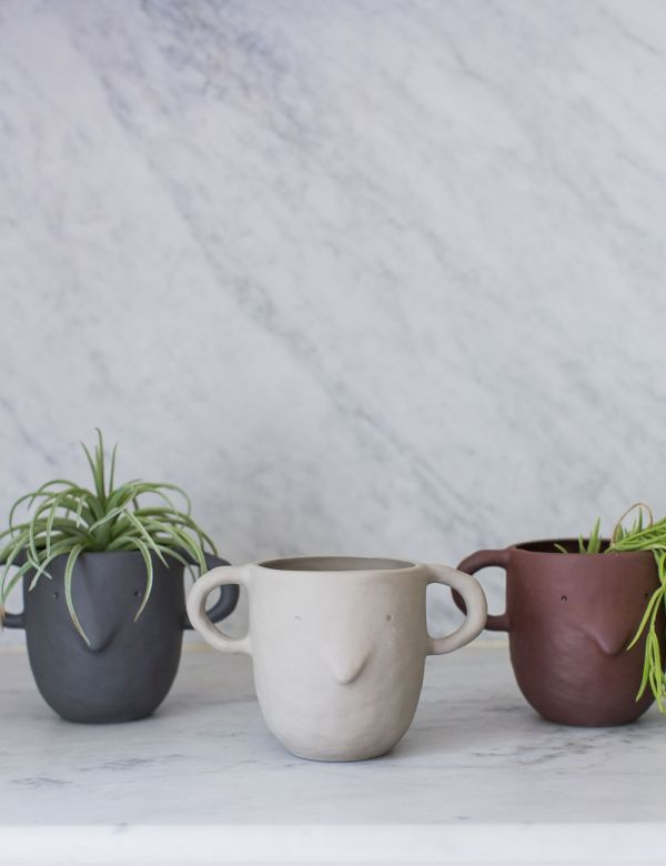 Ferm Living Face Plant Pot - Three Colours Available