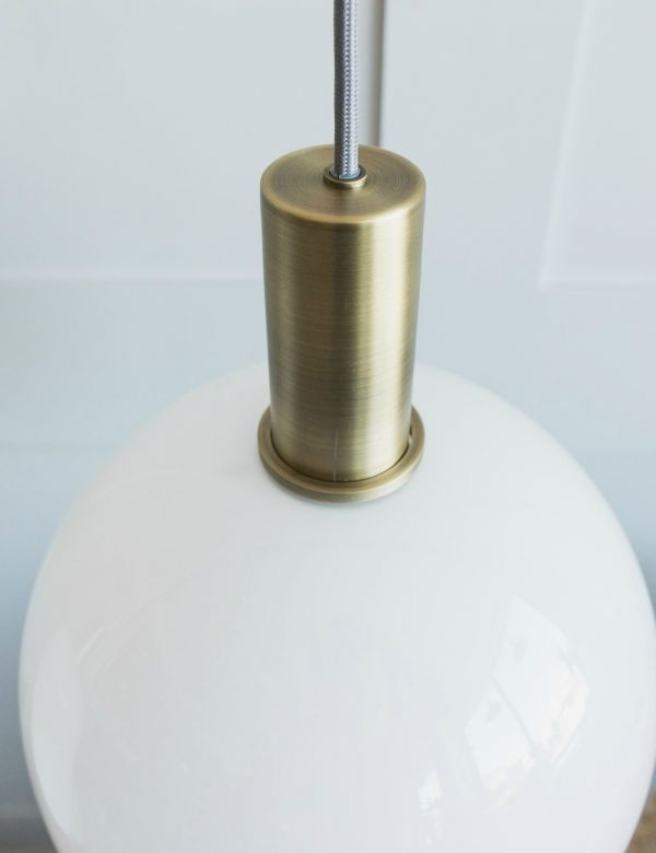 Ferm Living Opal Lampshade with Brass Pendant - Sphere