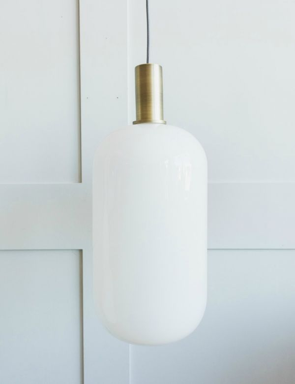 Ferm Living Opal Lampshade with Brass Pendant