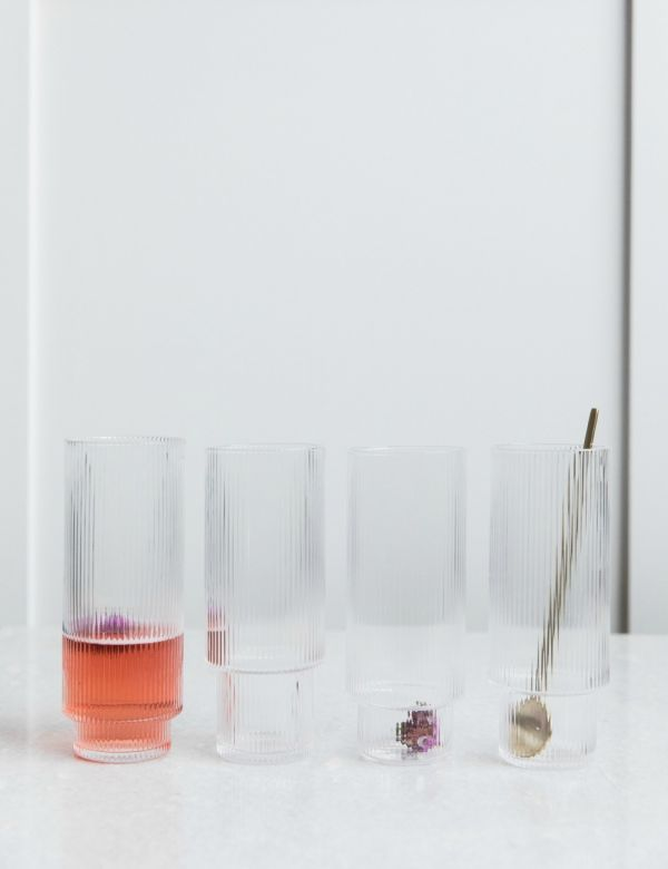 Ferm Living Ripple Long Cocktail Glasses