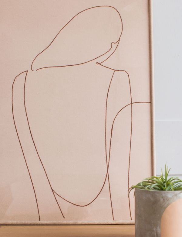 Forn Studio Print - Silhouette on Beige 50 x 70cm