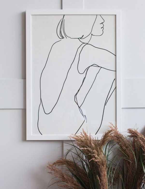 Forn Studio Print - Silhouette on White 50 x 70cm