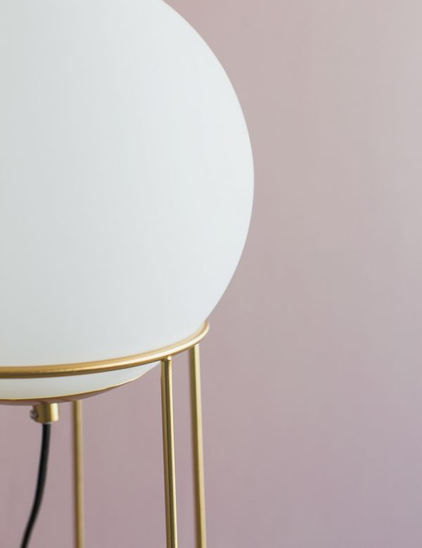 Genoa Brass & White Lamp