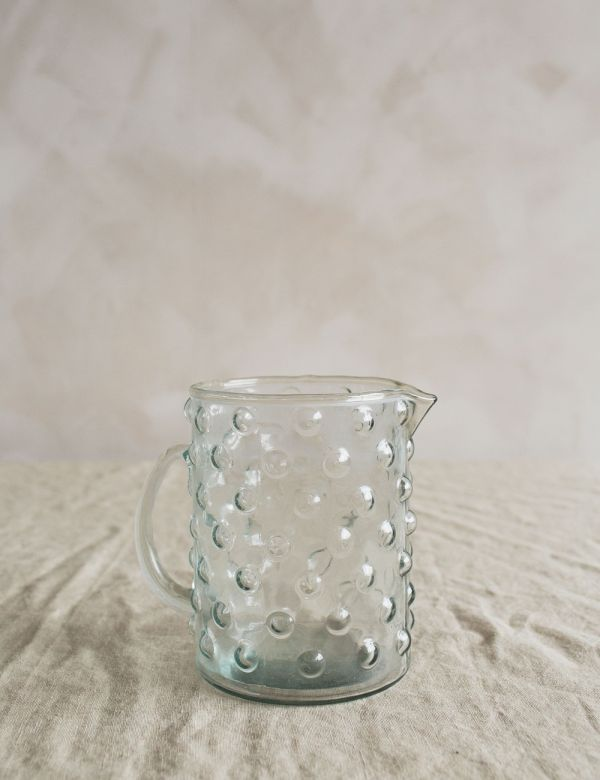 Glass Bobble Jug