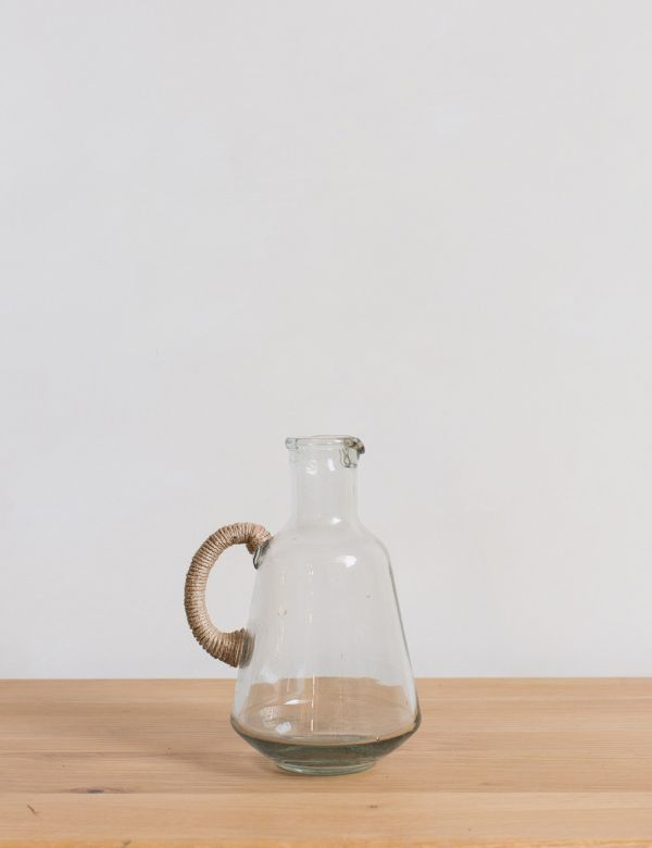 Glass & Jute Jug