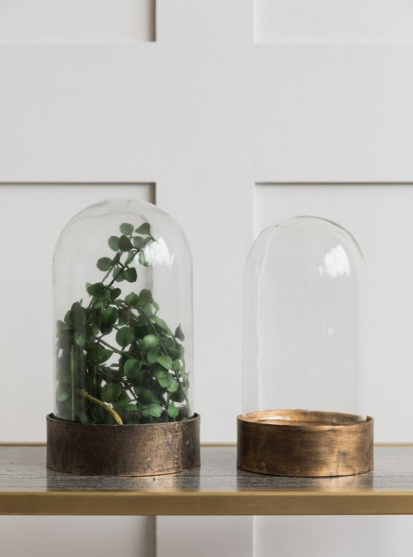 Glass & Metal Bell Jar