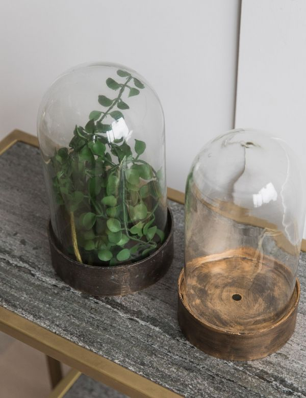 Glass & Metal Bell Jar - Two Sizes Available