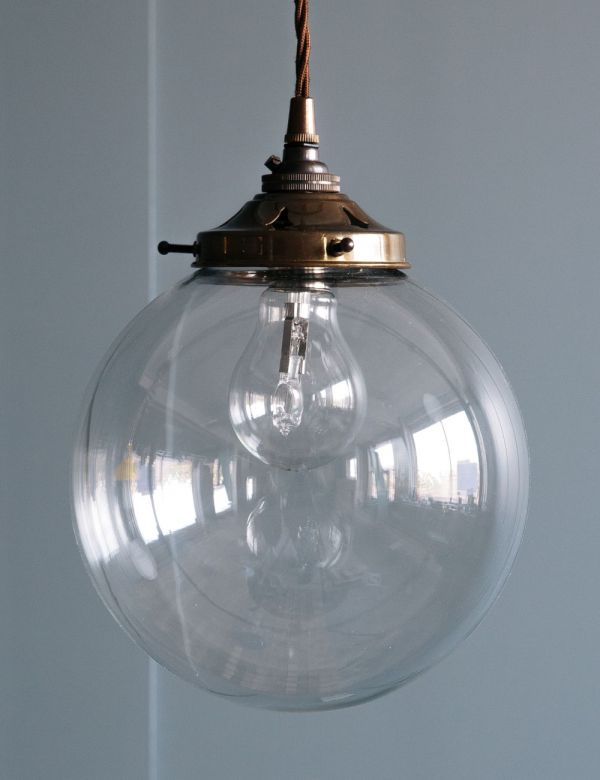 Globe Blown Glass Pendant Light
