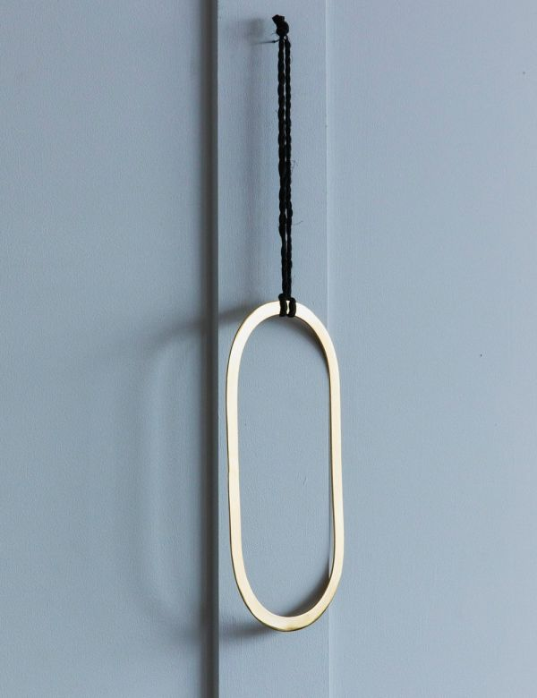 Gold Hanging Oval Decoration