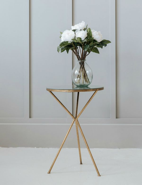 Gold Tripod Occasional Table